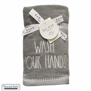 Rae Dunn WASH YOUR HANDS 2 Set Hand Towels
